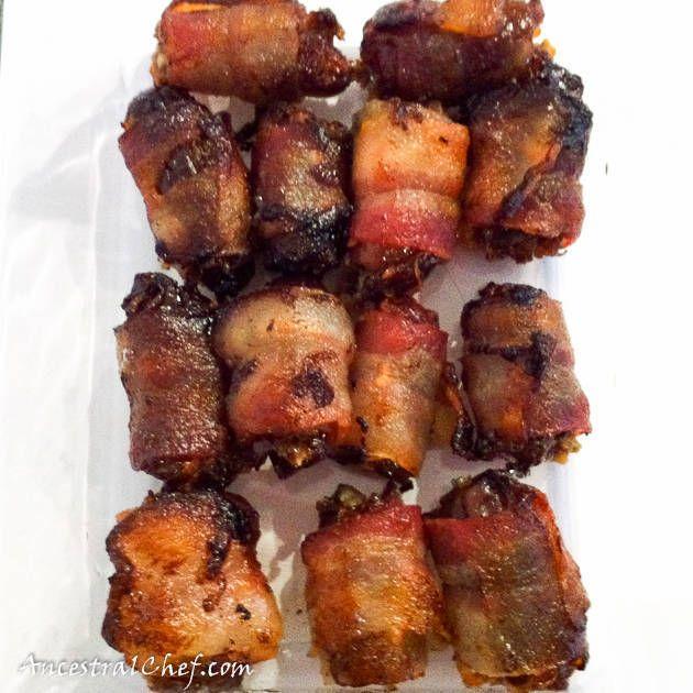 Bacon wrapped dates paleo