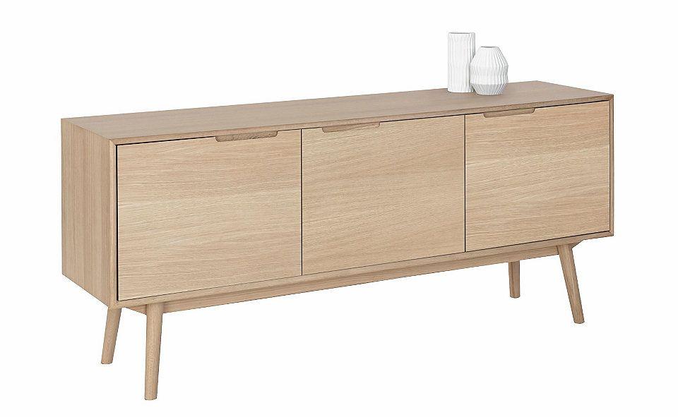 andas Sideboard »Curve«, white oak, im nordischen Design Jetzt - wohnzimmer sideboard design