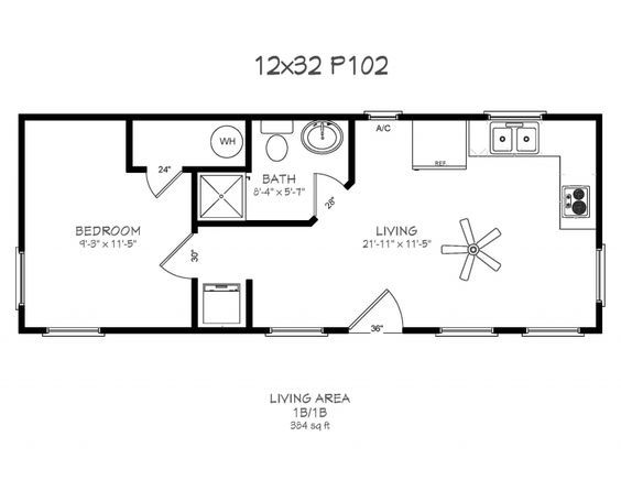 Image Result For 12 X 32 Floor Plans Cottages Tiny