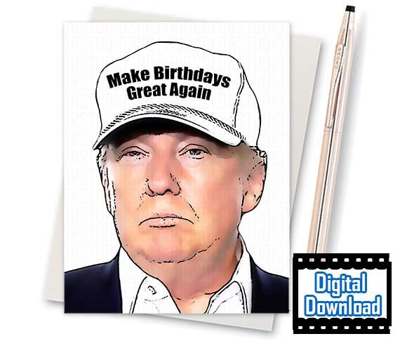 Donald trump card funny birthday card by inlivingcolorstudios donald trump card funny birthday card by inlivingcolorstudios bookmarktalkfo Gallery