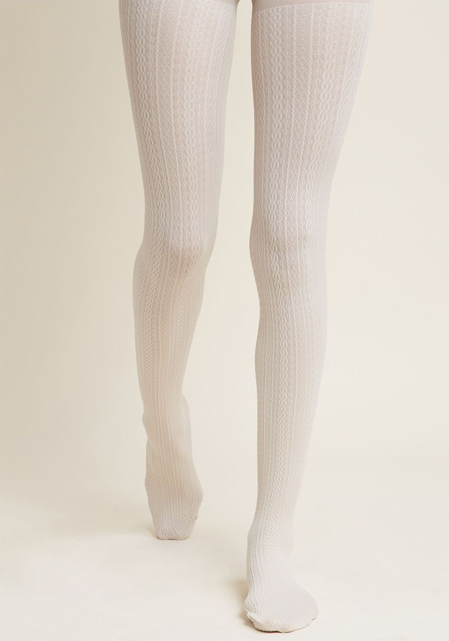 3c4e31c8e41d7 Cable for Discussion Tights in Ivory in 2019 | My Style (N+G) Casual ...