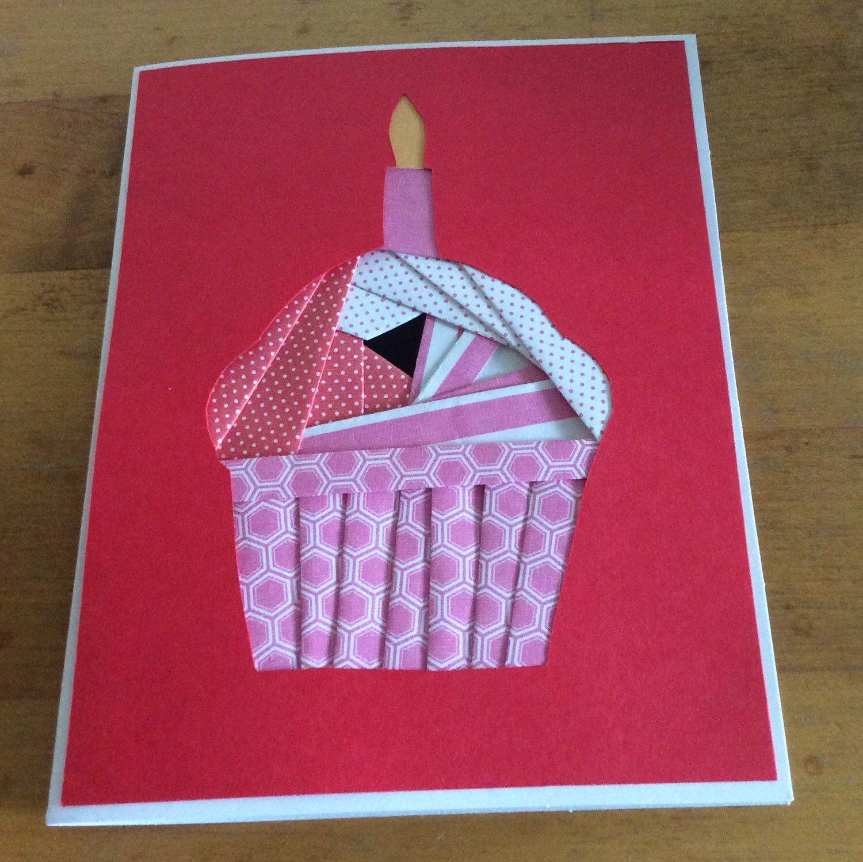 Birthday Cupcake Iris Folded Greeting Card Iris Iris Folding And