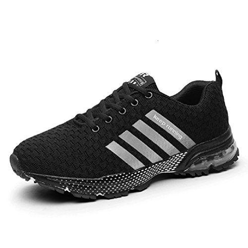 5a41062b261 Sollomensi Chaussures de Course Running Compétition Sport Trail  Entraînement Homme Femme Cinq Couleurs Basket EU 38