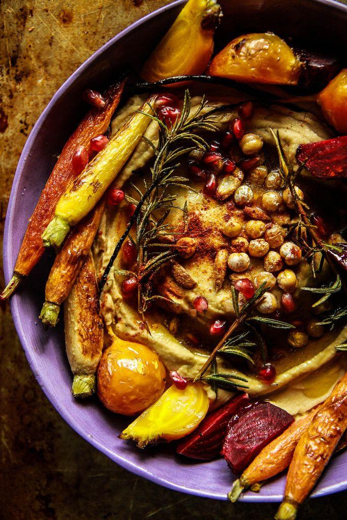 Vegan Winter Harvest Hummus Bowl