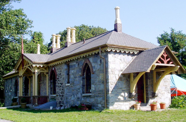 Sedgeley House by Benjamin Henry Latrobe in Gothic Revival style