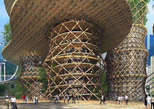 Crg Architects Unique Bamboo Skyscraper Spirals Up Into The