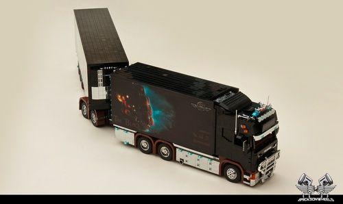 Scania r560 V8 'Black Pearl': A LEGO® creation by Bricksonwheels MOC : MOCpages.com