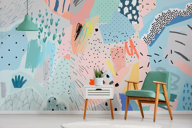 Removable Wallpaper Peel And Stick Wallpaper Wall Paper Wall Etsy In 2020 Removable Wallpaper Wall Wallpaper Wall Murals