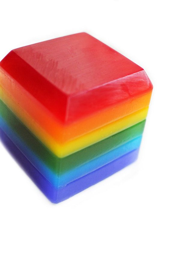 Looking for that unique large rainbow soap? Then this soap is for you - the JUMBO rainbow soap cube! This listing is for one JUMBO unscented