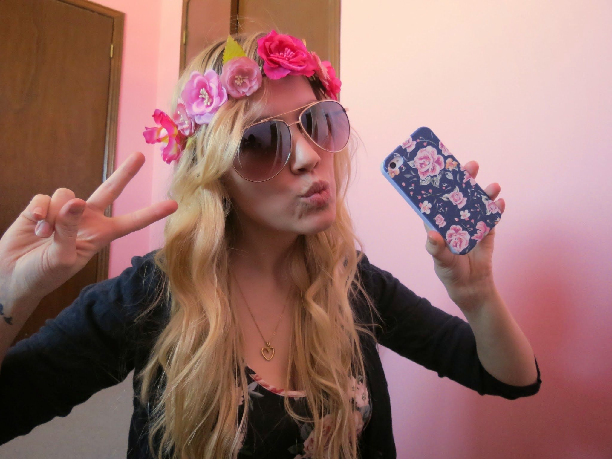 Flower power. Floral fashion. Flower crowns, and floral print iPhone cases.