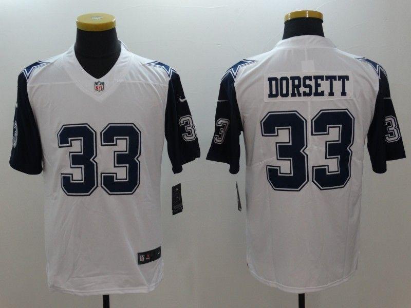 Men's Dallas Cowboys #33 Tony Dorsett Nike White Color Rush Jersey ...