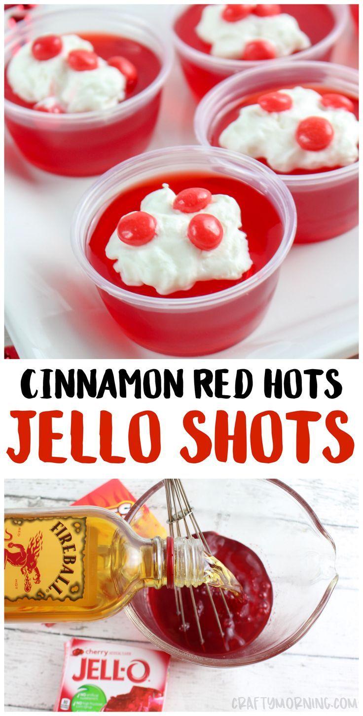 Cinnamon Red Hot Jello Shots - Crafty Morning