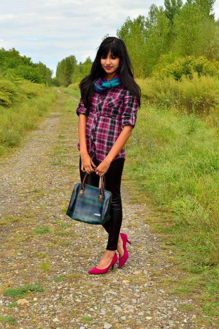 Plaid + Leather Leggings www.missminussized.com