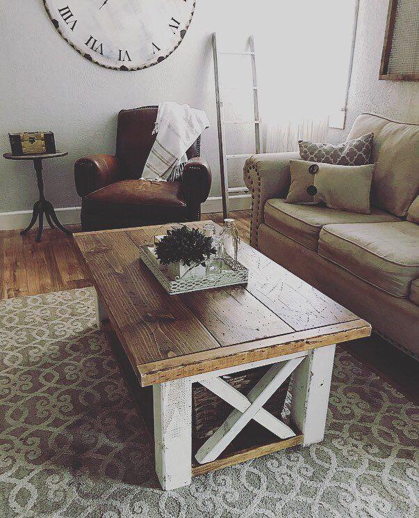 Chloe Farmhouse coffee table, X style coffee table, Farmhouse furniture, Rustic coffee table, wooden coffee table, living room furniture images