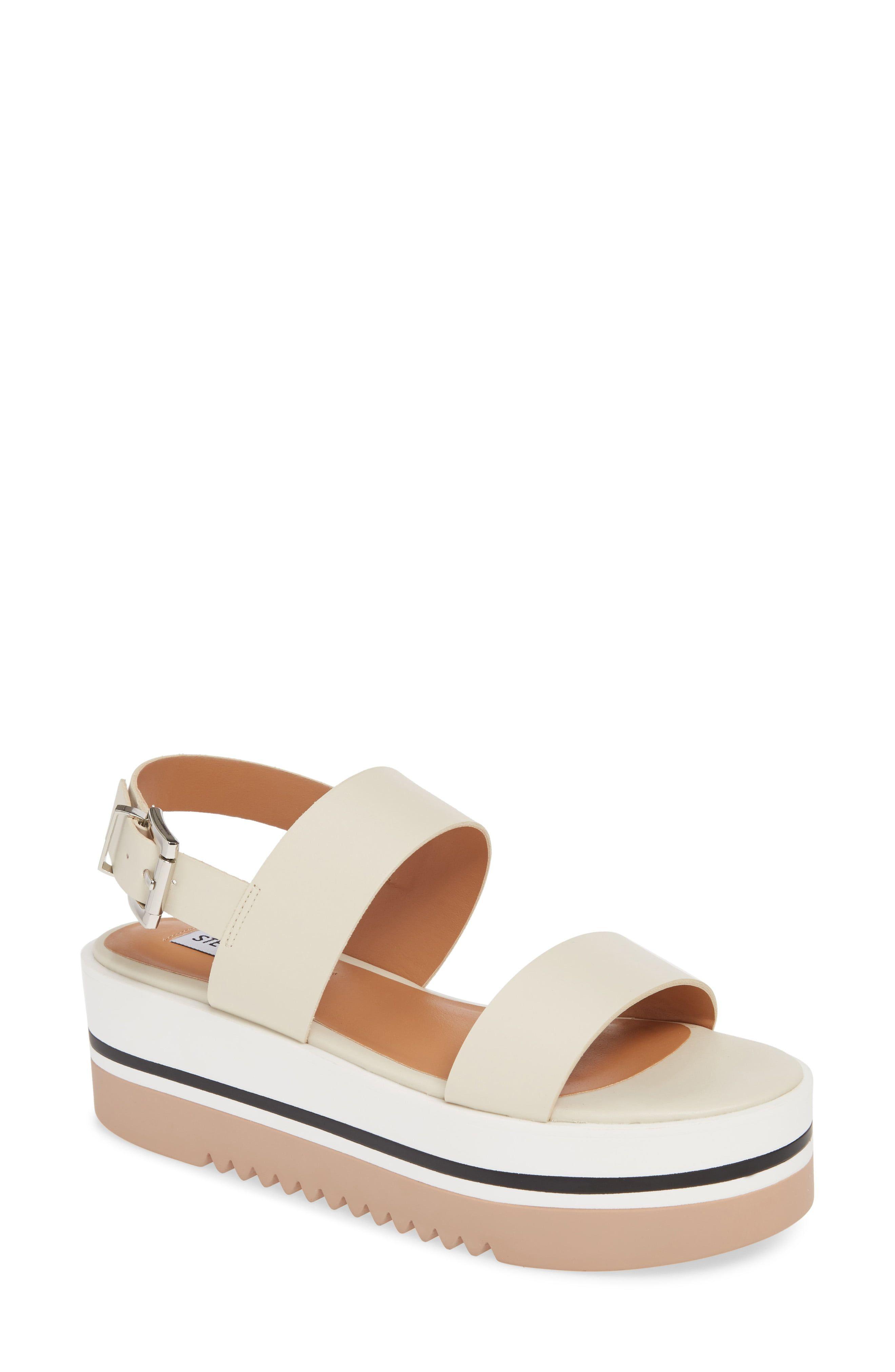 cb68c422e4a Women's Steve Madden Adora Platform Sandal, Size 6.5 M - Ivory in ...