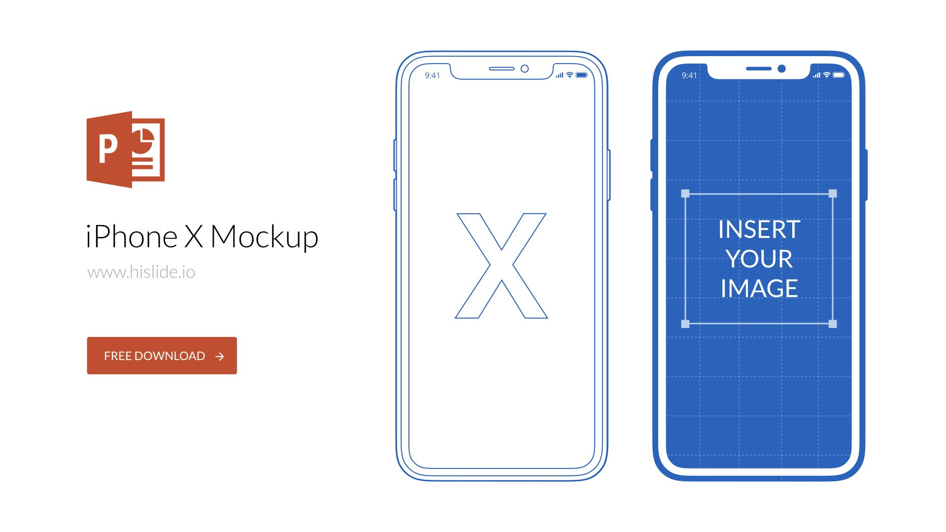 iphone x mockup for powerpoint powerpoint elements for