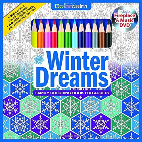 Book Set With 24 Colored Pencils Pencil Sharpener And Fireplace Music DVD Included Color Your Way To Calm 9781988137629 Newbourne Media Books