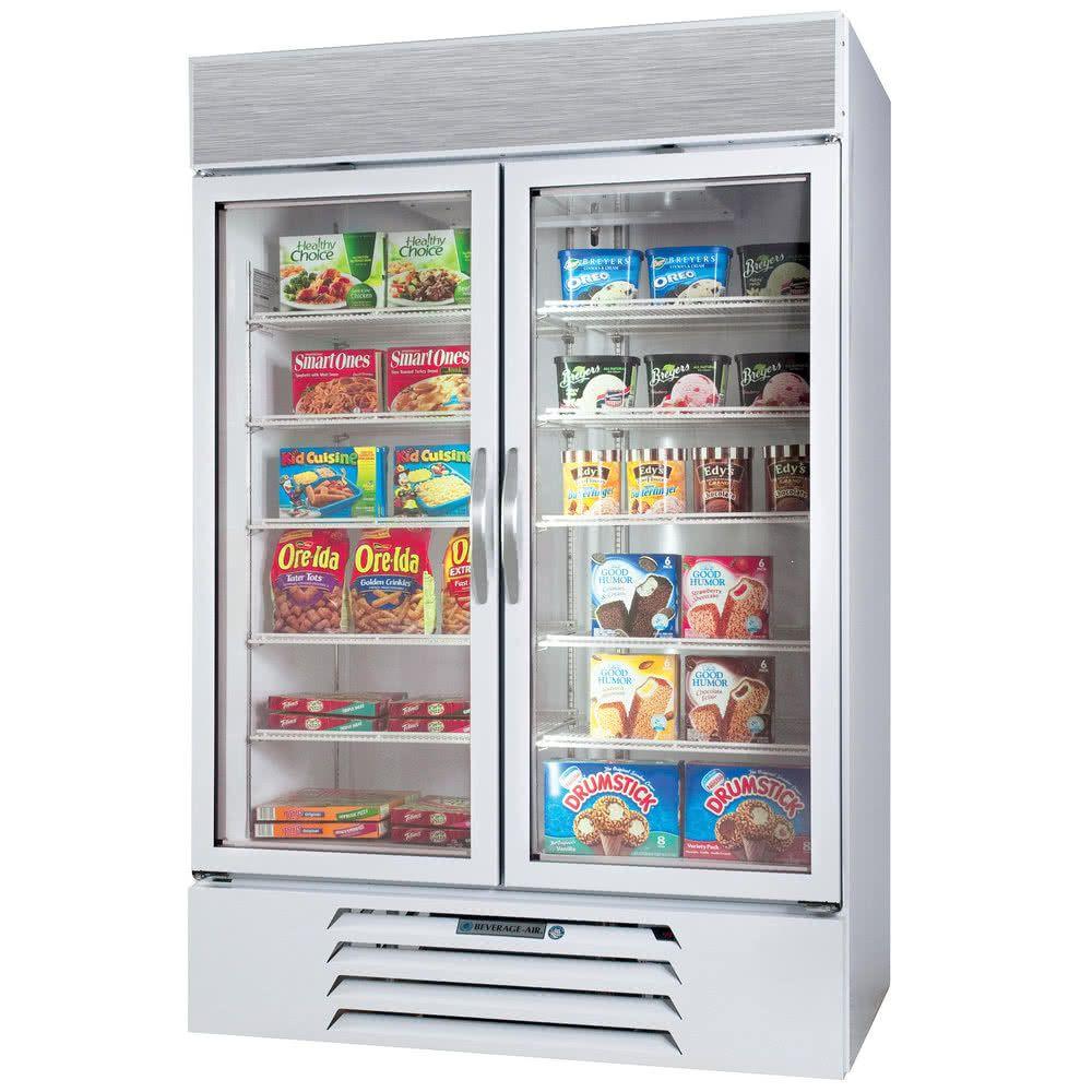Beverage Air Mmr44hc 1 W Marketmax 47 White Two Section Glass Door Merchandiser Refrigerator 45 Cu Ft Glass Door Refrigerator Glass Door Refrigerator Sale