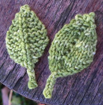 Knitted Leaf Patterns Knit Knitting Free Pattern Freepattern