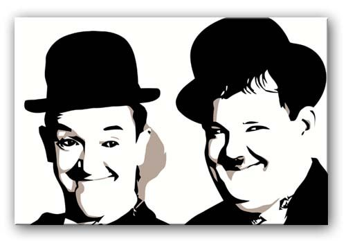 Various Sizes LAUREL AND HARDY  Canvas Wall Art Print