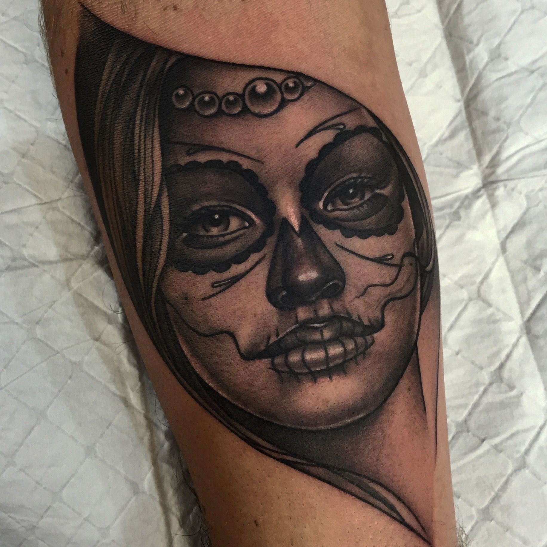 Day Of The Dead Girl Tattoo By Tommy At Diabolik In Newcastle