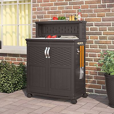 Waste No Time When You Serve Your Family And Guests A Dinner Right From Your Own Suncast Patio Patio Storage Grill Accessories Storage Outdoor Storage Cabinet