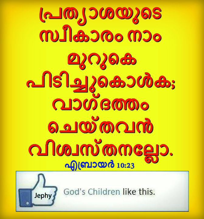 Daily Malayalam Bible Words
