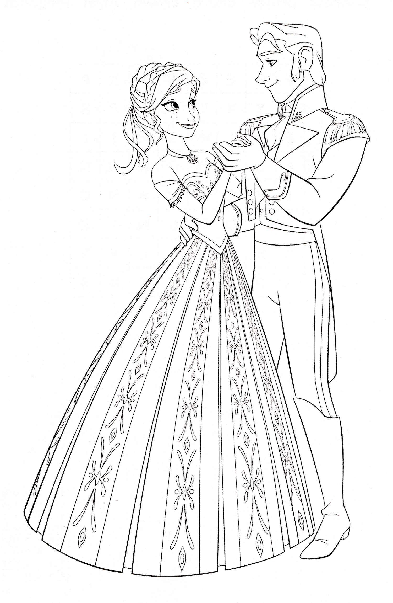 Frozen Anna E Hans Paginas Para Colorir Da Disney Desenho