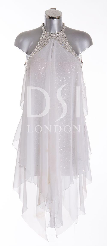 Dsi London Ladies Wear Dsi Designer Dresses 385132 White Robe De Danse Vetements De Danse Mode
