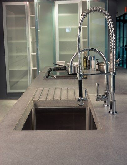 industrial deep sink concrete countertops art and maison inc miami rh pinterest com