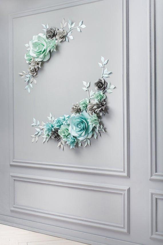 Paper flower Backdrop Alternative Wedding Arch - Paper Flower Centerpiece