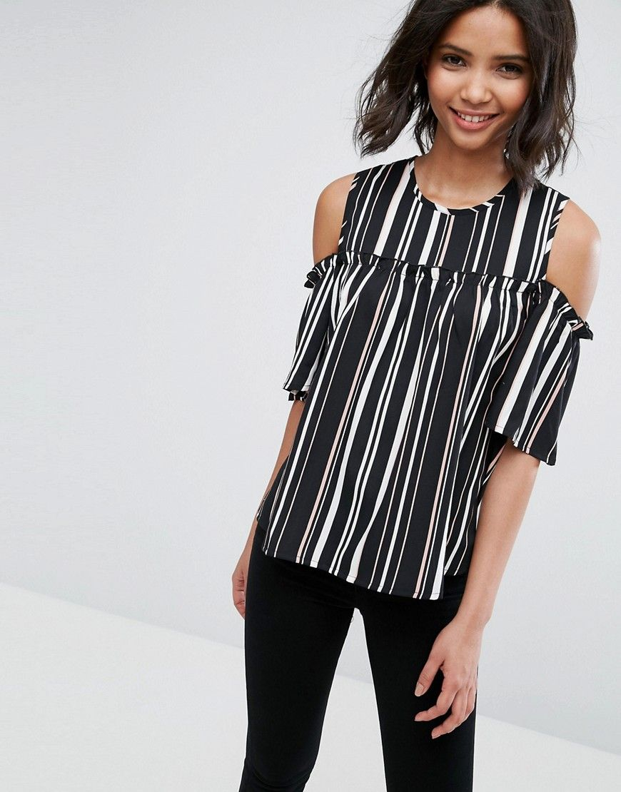 Discount With Paypal Clearance Shop For Cold Shoulder Printed Top - Multi Influence bbfLM