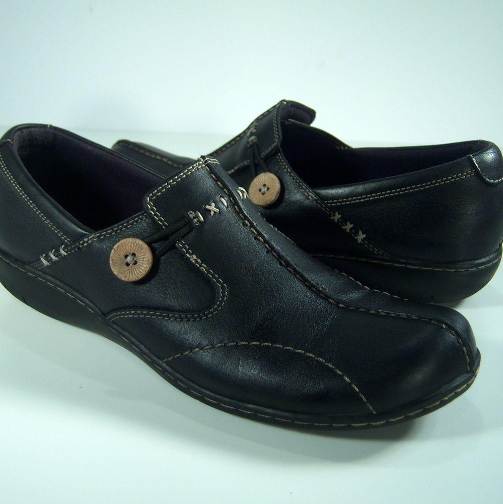 98de9a65621e Clarks Bendables 10M Sixty Delta Black Leather Loafers 35062 Womens Shoes   ClarksBendables  LoafersSlipOns