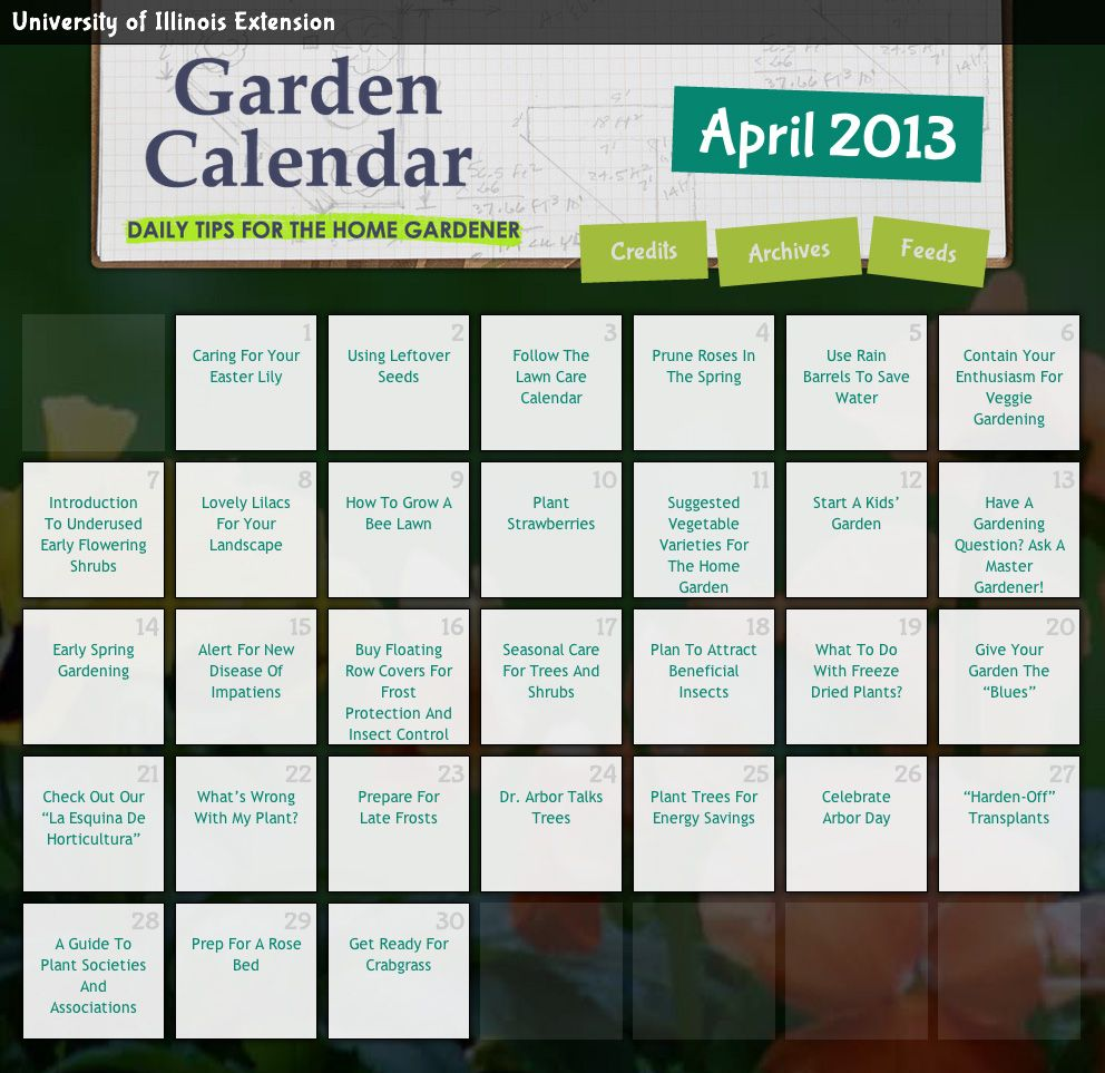 High Quality DAILY Gardening Tips For The Month Of April! Great Gardening Resource     Just Click
