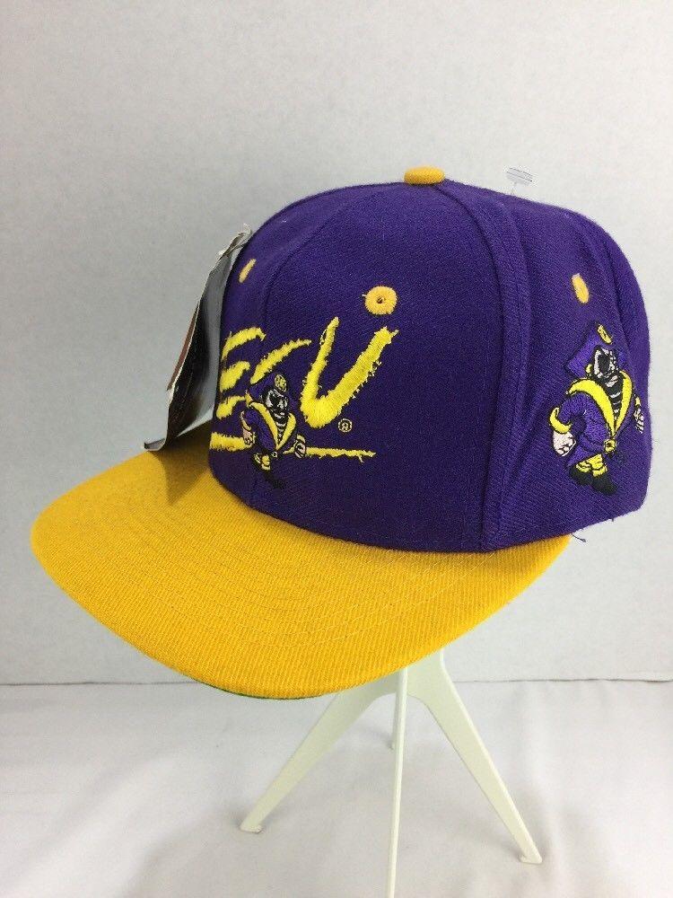 c0c9b4e685dac ECU East Carolina Pirates Men s Cap Hat SnapBack Flat Bill NWT Vtg 80s