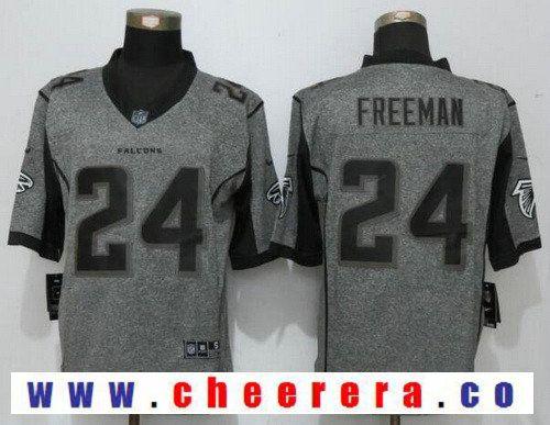 cf9f6277b Men's Atlanta Falcons #24 Devonta Freeman Gray Gridiron Stitched NFL Nike  Limited Jersey