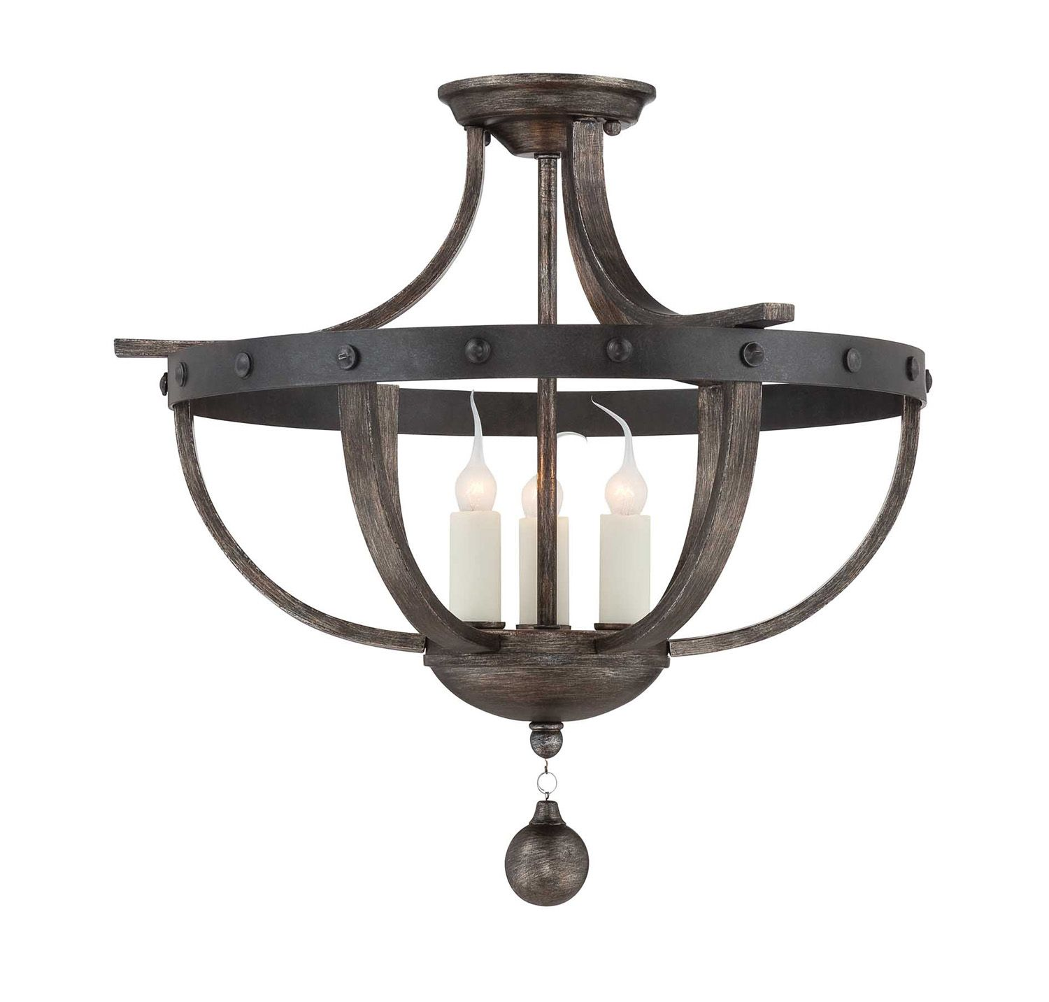 Semi Flush Mount Kitchen Lighting Black Whale Lighting Item 278708 Alsace Three Light Semi Flush