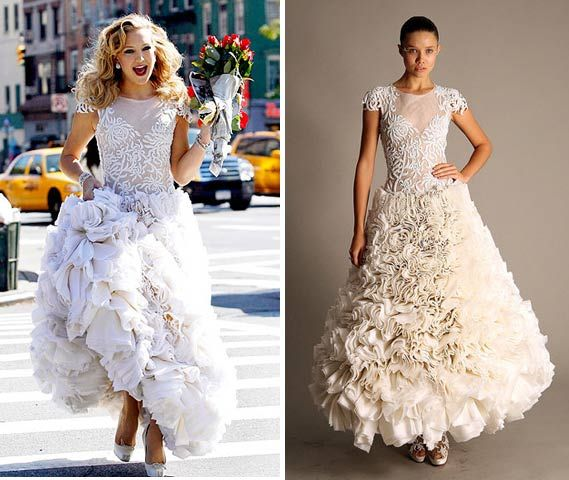 Meghan Mccain Wears Marchesa Wedding Dress: Kate Hudson Models Marchesa Wedding Dress