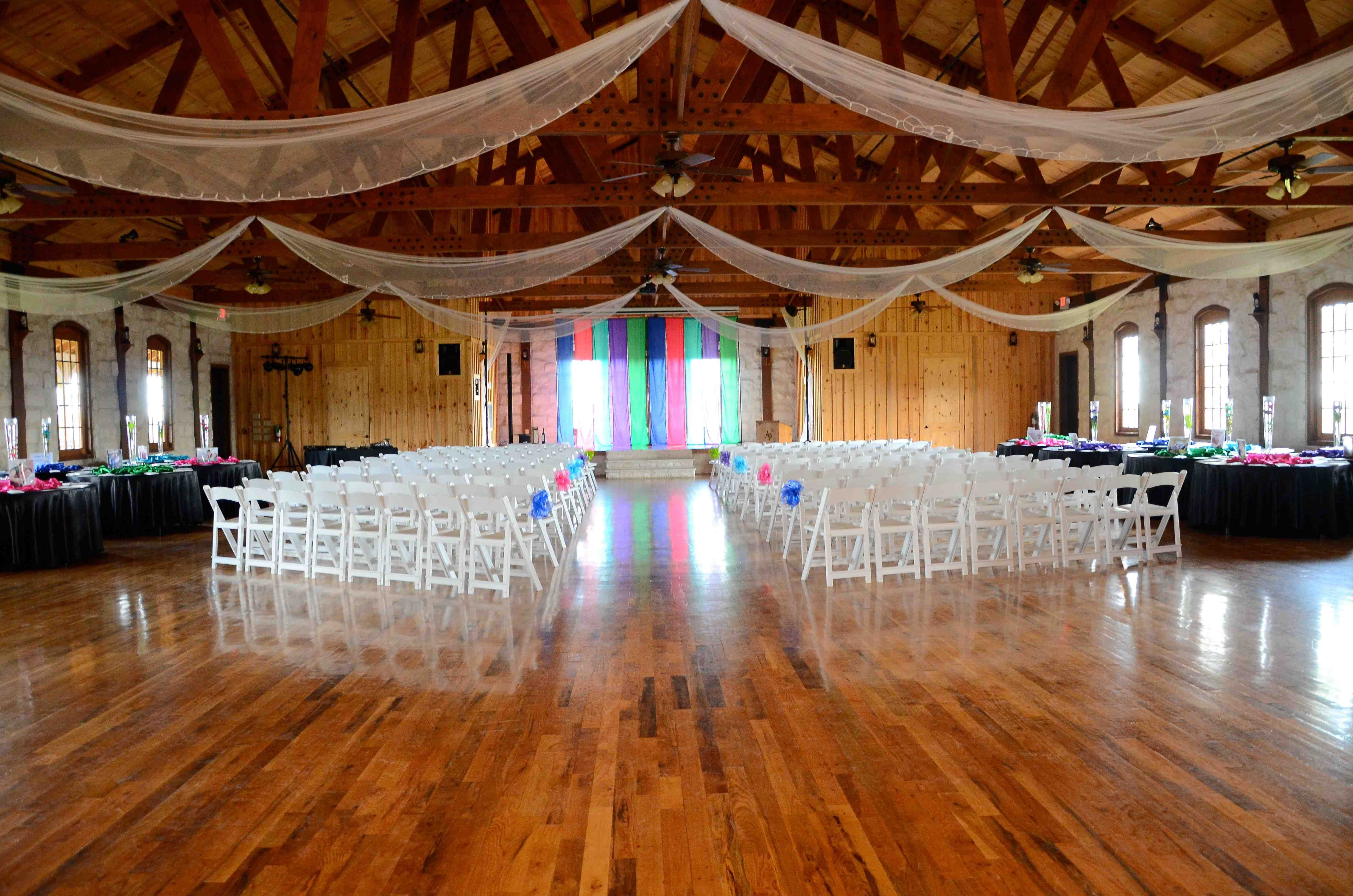 Ceremony Between Reception: Ceremony And Reception In Same Room Idea