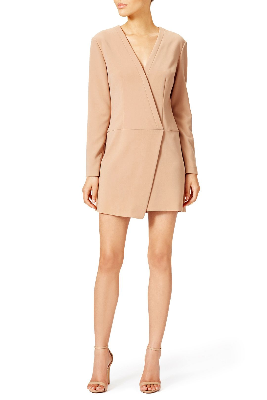 Camel Wrap Dress by CYNTHIA STEFFE for $55 | Rent The Runway