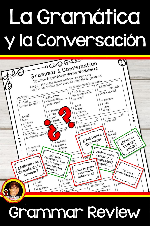 Spanish Grammar And Conversation Activities Bundle Spanish Grammar Grammar Spanish [ 1440 x 960 Pixel ]