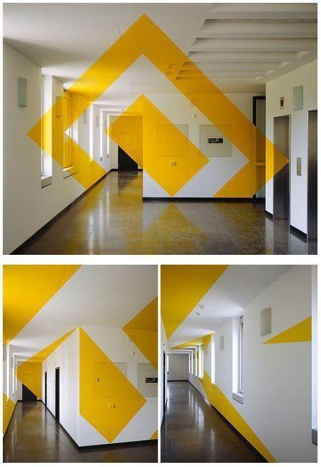 Artist Felice Varini creates breathtaking anamorphic illusions.