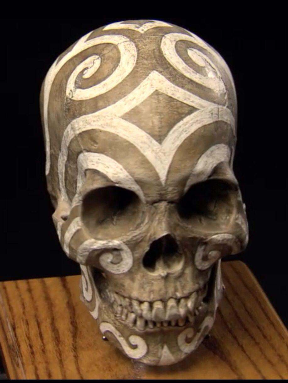 Carved Skulls Skull Carving Skull Painting Skull Art