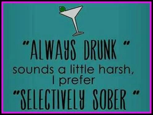 Selectively sober