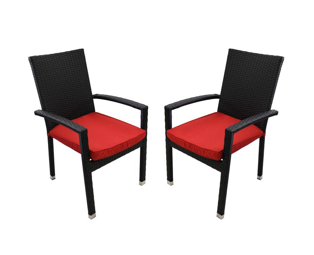 lime green patio furniture. Set Of 2 Black Resin Wicker Outdoor Patio Furniture Dining Chairs - Lime Green Cushions