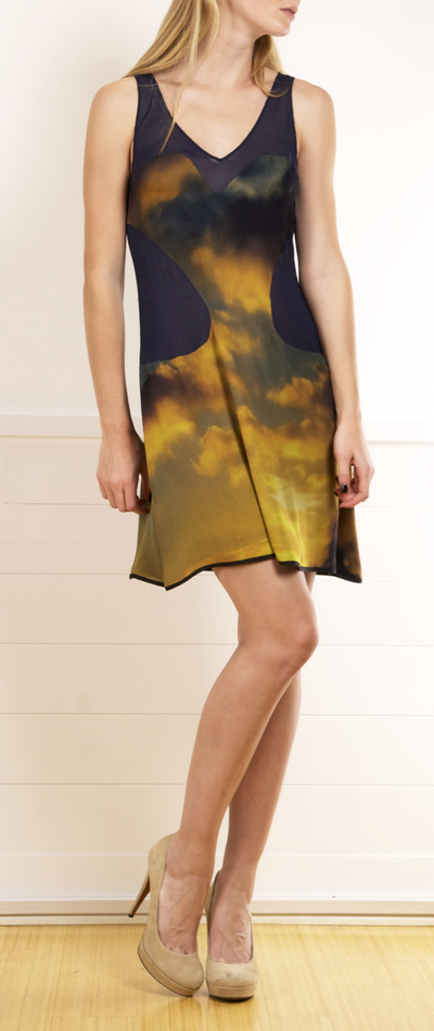 Christopher Kane dress has a V-neck with sweetheart neckline detail