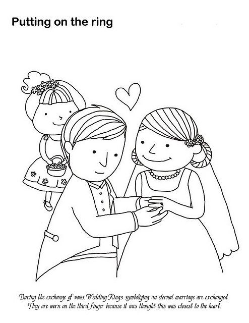 Putting on the Ring Coloring Page | Coloring Pages | Pinterest