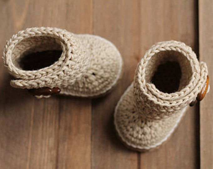 Crochet Baby Booties Pattern \