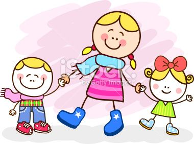 Image result for clipart images-mother and kids