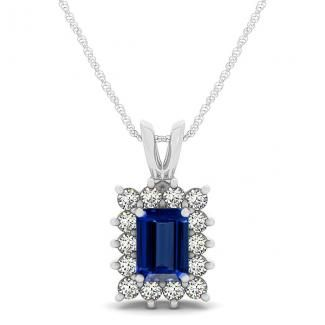 30ct emerald cut tanzanite pendant with 14ctw diamonds in 14k white 30ct emerald cut tanzanite pendant with 14ctw diamonds in 14k white gold aloadofball Image collections